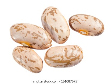 Pinto beans isolated on white background.
