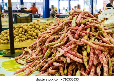 pinto beans at the italian market