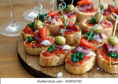 pintxos, tapas, spanish canapes party finger food