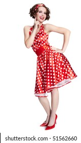 Pin-up girl. American style