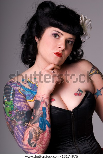 Pinup Girl Tattoos Stock Photo Edit Now 13174975