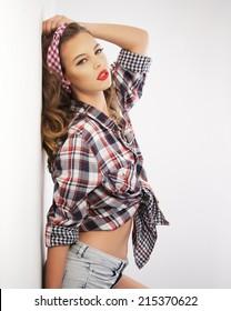 Pin-up girl wearing a headband