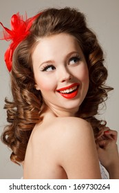 Pinup Bride Professional Makeup Hair Style Stock Photo Edit Now