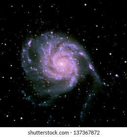 The Pinwheel galaxy, a face on spiral galaxy about twenty-one million light years away in the constellation Ursa Major