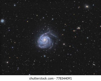 The Pinwheel Galaxy (Messier 101)  in the constellation Ursa Major