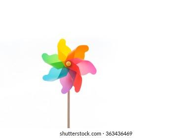 Pinwheel isolated on white