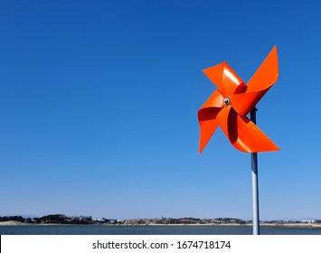a pinwheel in the sky