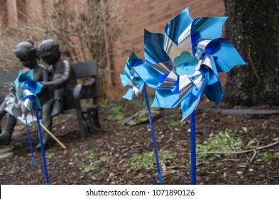 Pinwheels for Prevention child abuse awareness month.