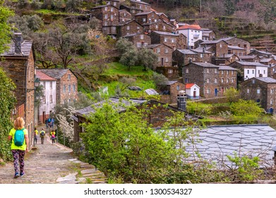 Piodao, Portugal - April 2018: touristic route at the vicinity