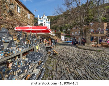 Piodao, Portugal - April 2018: traditional souvenirs in a village store