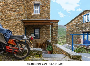 Piodao, Portugal - April 2018: tranquility of the village streets