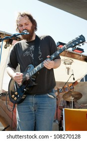 PIONEERTOWN, CA - JULY 21: Joel Robinow of Howlin' Rain performs at the Freaks for the Festival at Pappy & Harriet's on July 21, 2012 in Pioneertown, CA.