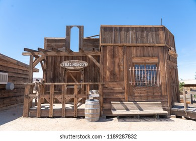 Pioneertown, California - June 10 2014: Exterior of Trading Post in  Pioneertown, CA from Mane Street