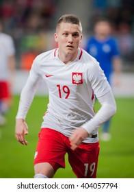Piotr Zielinski, International Football friendly match of Poland vs Finland - WROCLAW, POLAND - MARCH 26, 2016.
