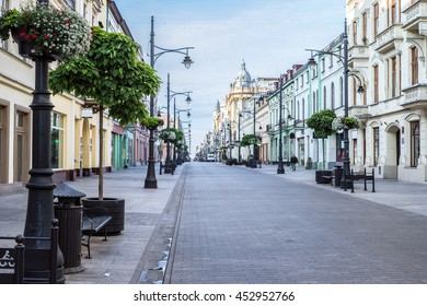 Piotrkowska Street in the city of Lodz