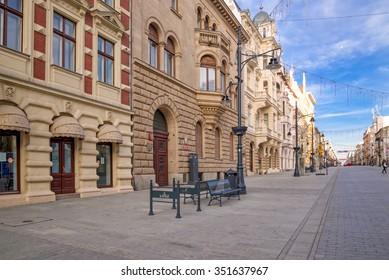 Piotrkowska Street, Lodz. Poland