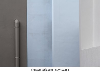 Water Pipe Attached Wall Stock Photo (Edit Now) 669534532
