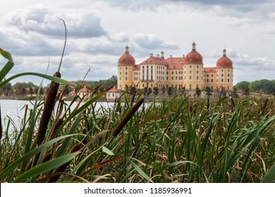 Pipe butt in front of Moritzburg Castle