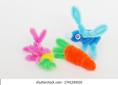 Pipe cleaner bunny kids craft