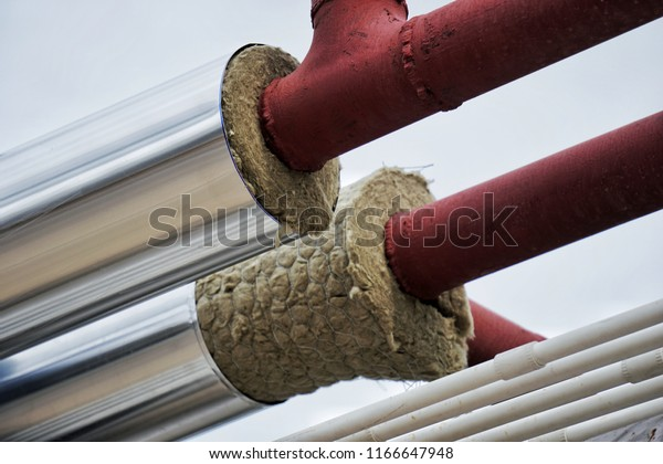 Pipe Insulation Jackets Hot Water Pipe Stock Photo (Edit Now