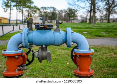 Pipe with meter, double block valves, and bleed valve