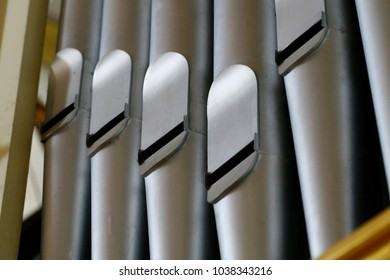 Pipe Organ, close up