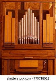 Pipe organ inside church