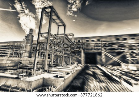 Pipe Rack Building Construction Site Stock Photo (Edit Now