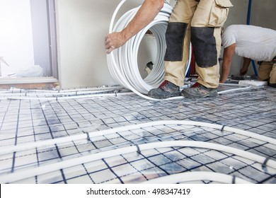 Pipefitter mounted underfloor heating
