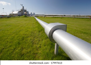 Pipeline coming from storage tanks