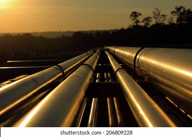 pipeline connection  from crude oil field