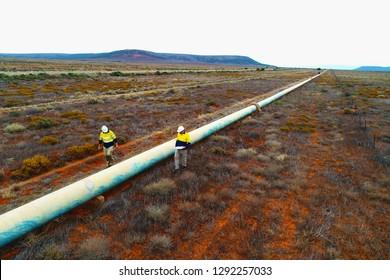 Pipeline inspection in Australian Outback