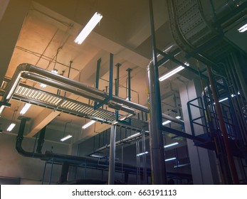 Pipeline In the mechanical room Of the factory