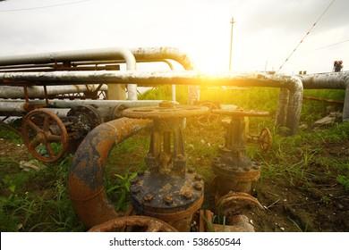 Pipeline of oil fields