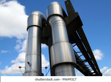 pipeline of petrol or gas. tubes for distribution of energy