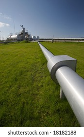 pipeline and storage tanks