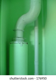 pipes in the apartment house's corridor