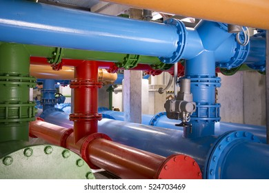 pipes in drinking water plant