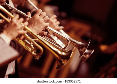 Pipes in the hands of musicians