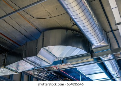 Pipes of HVAC  system (heating ventilation and air conditioning).