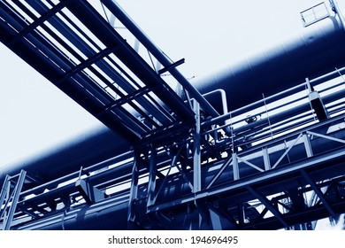 pipes and metal stents in a factory