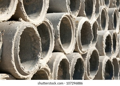 Pipes on building site