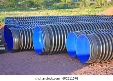 pipes on a construction site