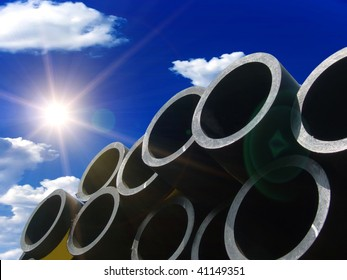 Pipes for water in a stack