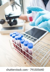 pipette and test tube in laboratory simulations of scientists and chemists