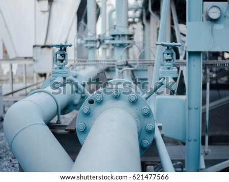piping flages valve factory stock photo edit now 621477566