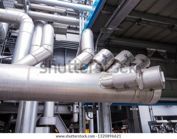 Piping Insulation Steam Boiler Systems Industrial Stock