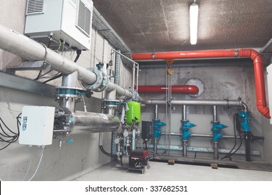 piping systems, industrial equipment, interior