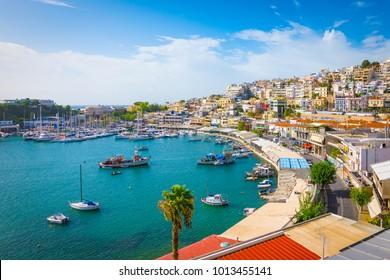 Piraeus, Athens, Greece. Mikrolimano harbour and yacht marina,