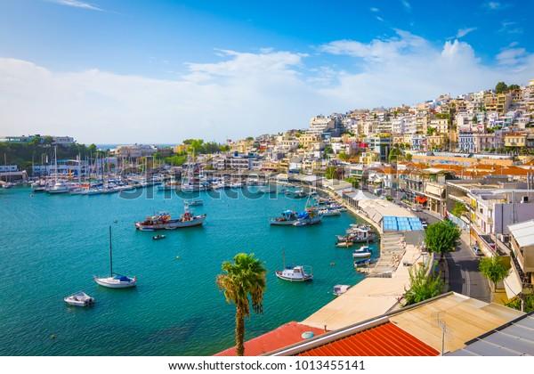 Piräus, Athen, Griechenland. Mikrolimano Hafen und Yachthafen,